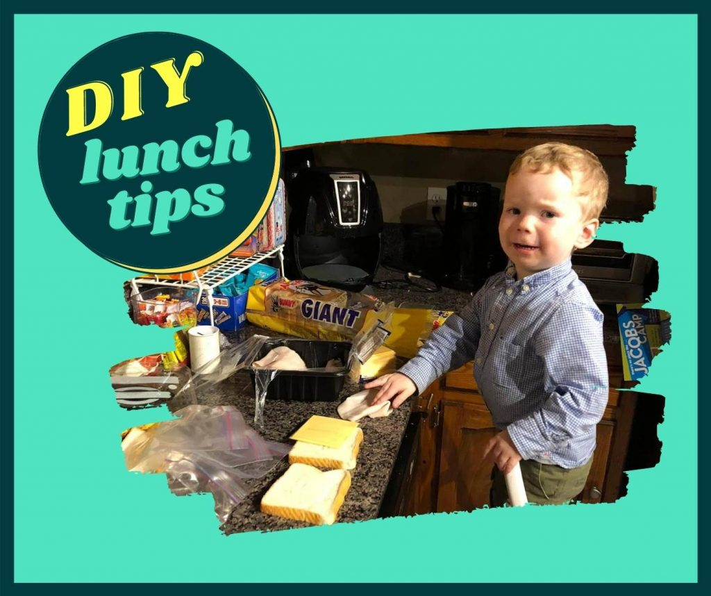 child making lunch