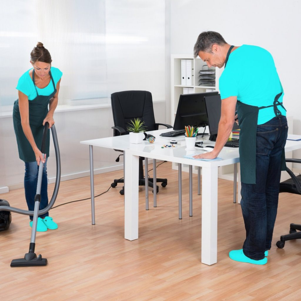 guarantee maid services cleaning an office space